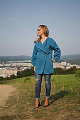 Kabáty - Oversize kabátik-dlhý - 11042081_