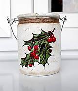 Svietidlá a sviečky - vianočný lampášik cezmína - 11042831_