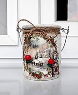 Svietidlá a sviečky - vianočný lampášik cezmína - 11042832_