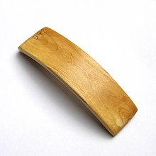 Ozdoby do vlasov - Drevená spona do vlasov - vŕbová veľká - 11041929_