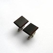 Šperky - Drevené manžetové gombíky - palisandrové obdĺžničky - 11042671_