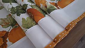 Úžitkový textil - Stredový obrus jesenný - 11045382_