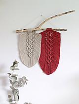 "Dekorácie - makramé listy ""minimalizmus"" - 11044777_"