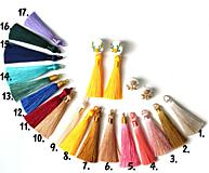 Náušnice - Náušnice so strapcom a čipkou. Baby pink - 11045742_