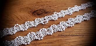 Galantéria - Ozdobná lemovka s perličkami 20 mm - biela - 11044361_