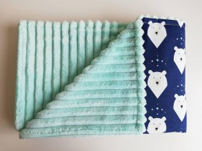Textil - Deka minky ľadový medveď - 11045770_