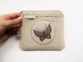Peňaženky - Peňaženka malá - Motýľ (s priehradkami) - 11044720_