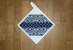 Úžitkový textil - Chňapka modrotlačová - 11046182_
