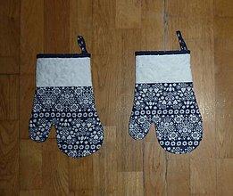 Úžitkový textil - Kuchynská rukavica modrotlačová - 11046046_