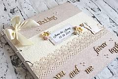 Papiernictvo - Elegantný a vintage svadobný fotoalbum - 11044401_