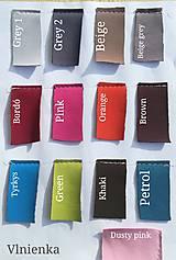 Textil - VLNIENKA výroba na mieru SOFTSHEL farebnica Fusak, rukávnik, capačky, rukavice, podložka proti ušpineniu od topánočiek - 11043837_