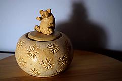 Socha - Dóza se zdobeným víčkem - 11043601_