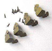 Komponenty - Kovové rohy-sada 4 ks - 11045853_