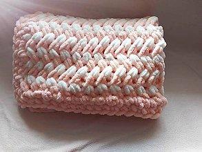 Úžitkový textil - Ručne pletená deka - 11043545_