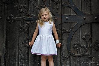 """Detské oblečenie - Biele šatôčky z kolekcie """"inšpirované Abovom"""" - 11045037_"""