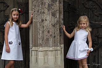 """Detské oblečenie - Biele šatôčky z kolekcie """"inšpirované Abovom"""" - 11045066_"""