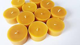 Svietidlá a sviečky - Čajové sviečky z včelieho vosku 20g - žiaden odpad - 11044519_