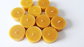Svietidlá a sviečky - Čajové sviečky z včelieho vosku - 11044523_