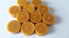 Svietidlá a sviečky - Čajové sviečky z včelieho vosku - 11044524_