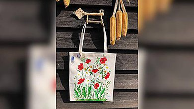 Iné tašky - ♥ Plátená, ručne maľovaná taška ♥  (S12) - 11044078_
