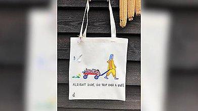 Iné tašky - ♥ Plátená, ručne maľovaná taška ♥ - 11044702_