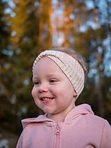 Detské čiapky - Pletená čelenka pre detičky (50-54cm) - 11046325_
