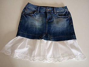 Sukne - Riflová sukňa - 11043354_