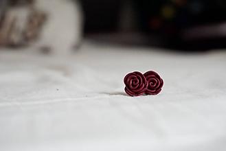 Náušnice - Ruža - 11045408_