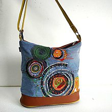 """Veľké tašky - Kabelka """"Natur...v denime"""" - 11044421_"""