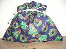 Úžitkový textil - Darčekové Vianočné vrecúško 22x22 cm - 11045529_