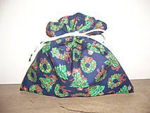 Úžitkový textil - Darčekové Vianočné vrecúško 22x22 cm - 11045530_