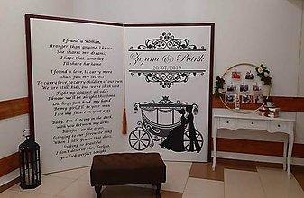 Obrazy - Fotostena na svadbu - veľká kniha - 11045927_