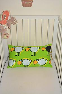Textil - Detský vankúš... ooo, ovečky - 11049393_