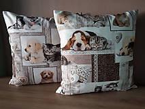 Úžitkový textil - Obliečky s mačičkami a psíkmi - 11048096_