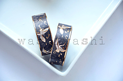 Papier - washi paska cierny zeriav - 11049603_
