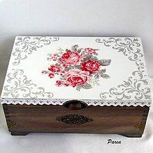 Krabičky - Šperkovnica- Ruženka - 11048836_