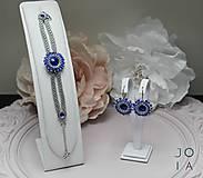 Náušnice - Visiace náušnice 'Majestic Blue' so Swarovski® kryštálmi - 11047716_