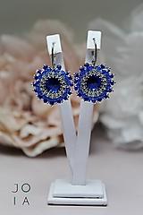 Náušnice - Visiace náušnice 'Majestic Blue' so Swarovski® kryštálmi - 11047718_