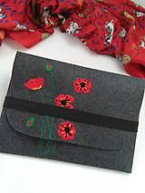Na notebook - Maky II. (ručne vyšívaná plstená taška) - 11047409_