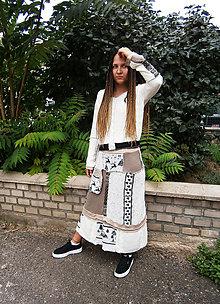 Šaty - lel, kostým bohoindian - 11047593_