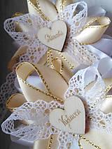 Pierka - Svadobné pierka čipkove veľké - 11046726_