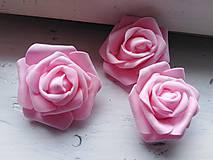 Polotovary - Penová ruža ružová - 11048268_