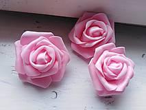 Polotovary - Penová ruža ružová - 11048270_