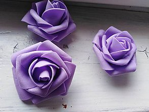 Polotovary - Penová ruža fialová - 11048249_