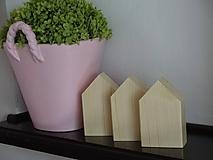 Dekorácie - Sada prírodných domčekov - 11047053_
