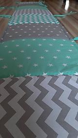 Textil - Hniezdo do postieľky ...mentol/šedá - 11047789_