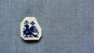Odznaky/Brošne - Brošňa vták záhorie hranatá - 11048856_