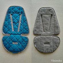 Textil - Podložka do kočíka CYBEX Priam a Balios S  100 % merino top super wash Petrol green - 11047458_
