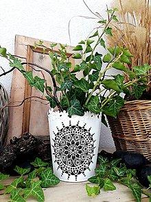 Nádoby - MANDALA HARMÓNIE-NOVINKA!!! ručne maľovaný feng shui kvetináč - 11047870_