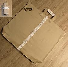 Nákupné tašky - veľká pevná nákupná taška (Zero Waste) (hnedá z bavlny) - 11049116_